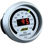 AEM Oil Pressure Gauge 0 to 150 psi
