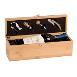 JDS Industries WBX31 Wine Box Set Bamboo Engravables